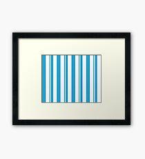 Dapper Dans - Blue Framed Print
