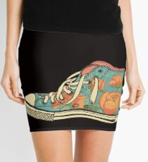 colored pattern gym shoes Mini Skirt