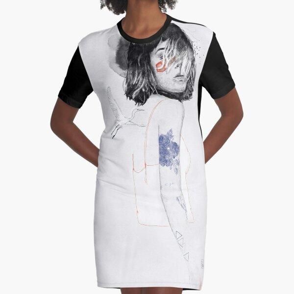 ARDEIDAE Graphic T-Shirt Dress