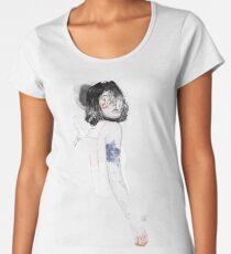 ARDEIDAE Camiseta premium de cuello ancho