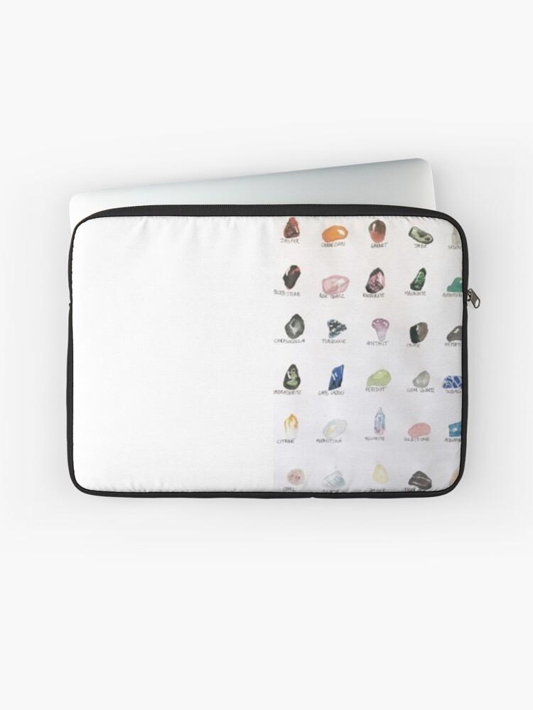 crystals names stones quartz | Laptop Sleeve