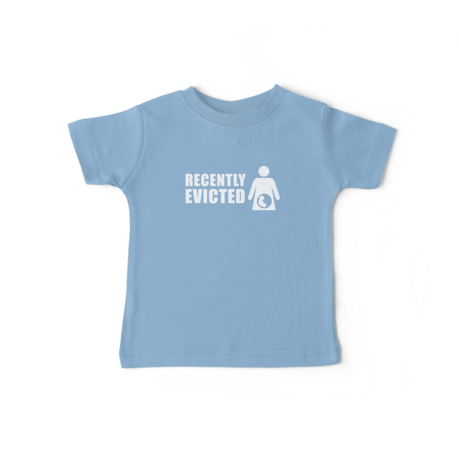 Recently Evicted (Blue) [Tshirts / iPad / Phone cases / Prints / Decor] by Didi Bingham