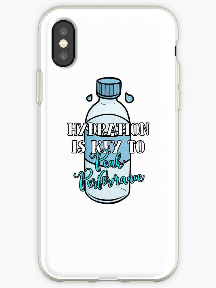 online store 6cc73 80a09 'Hydration is key to peak performance' iPhone Case by mirmaids