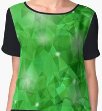 Abstract Green Polygonal Background. Abstract Polygonal Pattern Chiffon Top