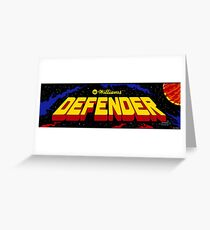 Defender - Williams Arcade Game - 1981 Greeting Card