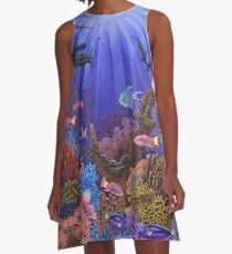 Underwater coral reef A-Line Dress