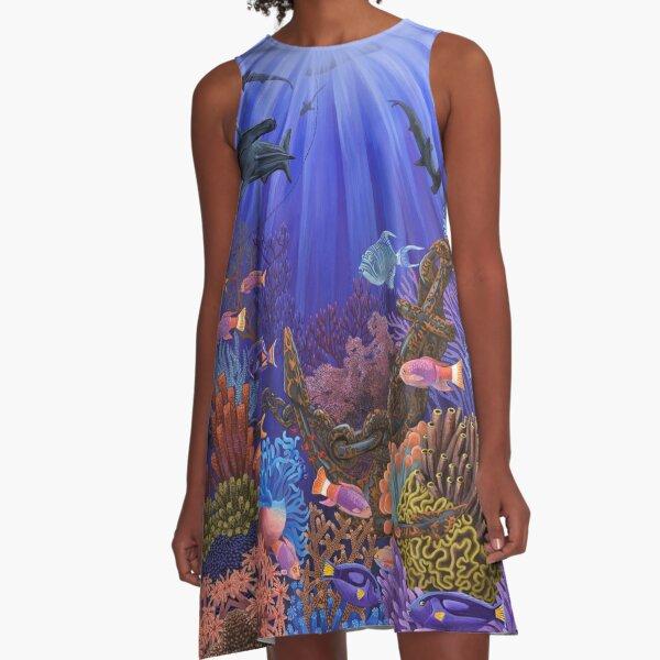 Underwater coral reef A-Line Dress