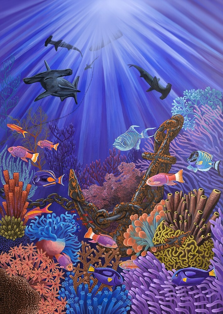 Underwater coral reef by Ruta Dumalakaite
