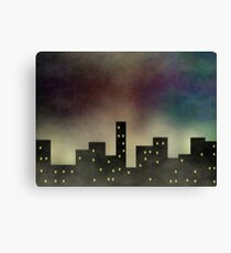The City's Nightly Secret  Canvas Print