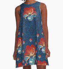 Flower Hawaii Pele A-Line Dress