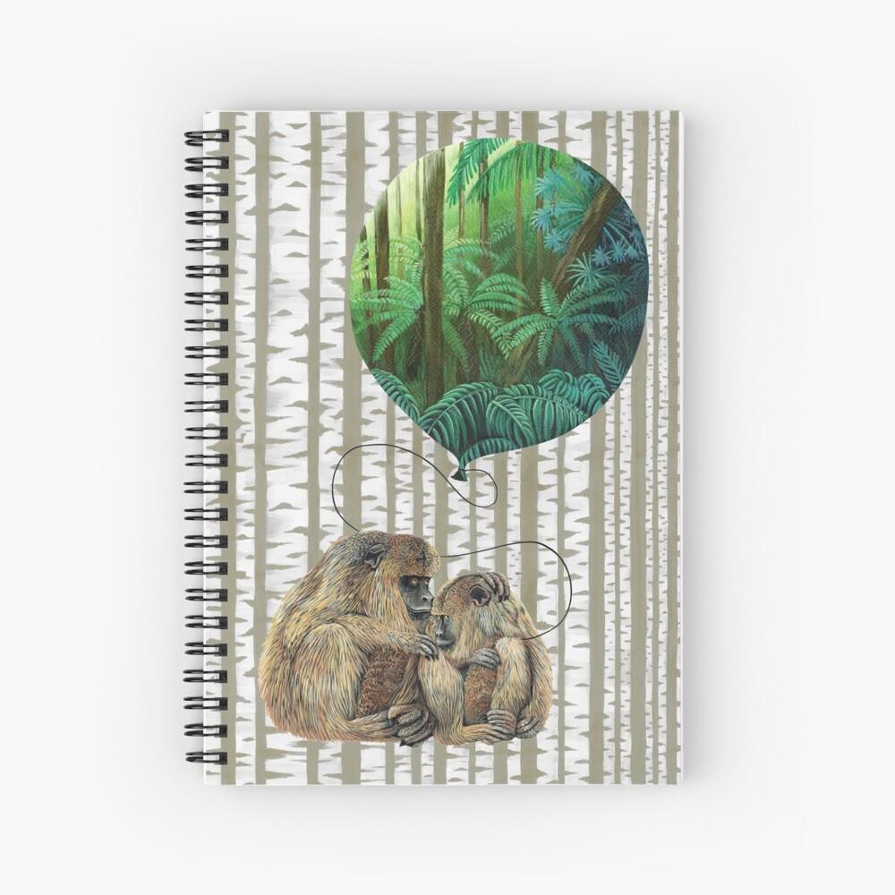 Balloon Monkey dream Spiral Notebook