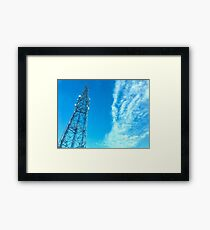 Clouds + Tower Framed Print