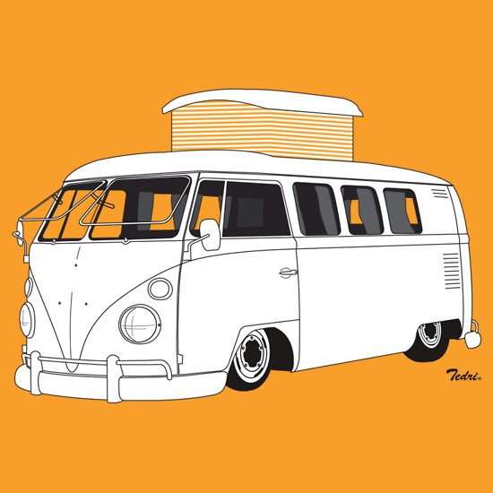 TShirtGifter presents: VW Type 2 Camper