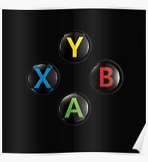 Xbox One Premium Buttons Poster