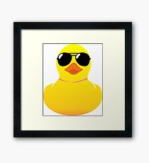 Yellow Cool Rubber Duck Framed Print