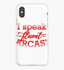 Fluent Sarcasm iPhone Case/Skin