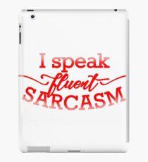 Fluent Sarcasm iPad Case/Skin