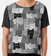 Blusa Gatos silenciosos monocromáticos