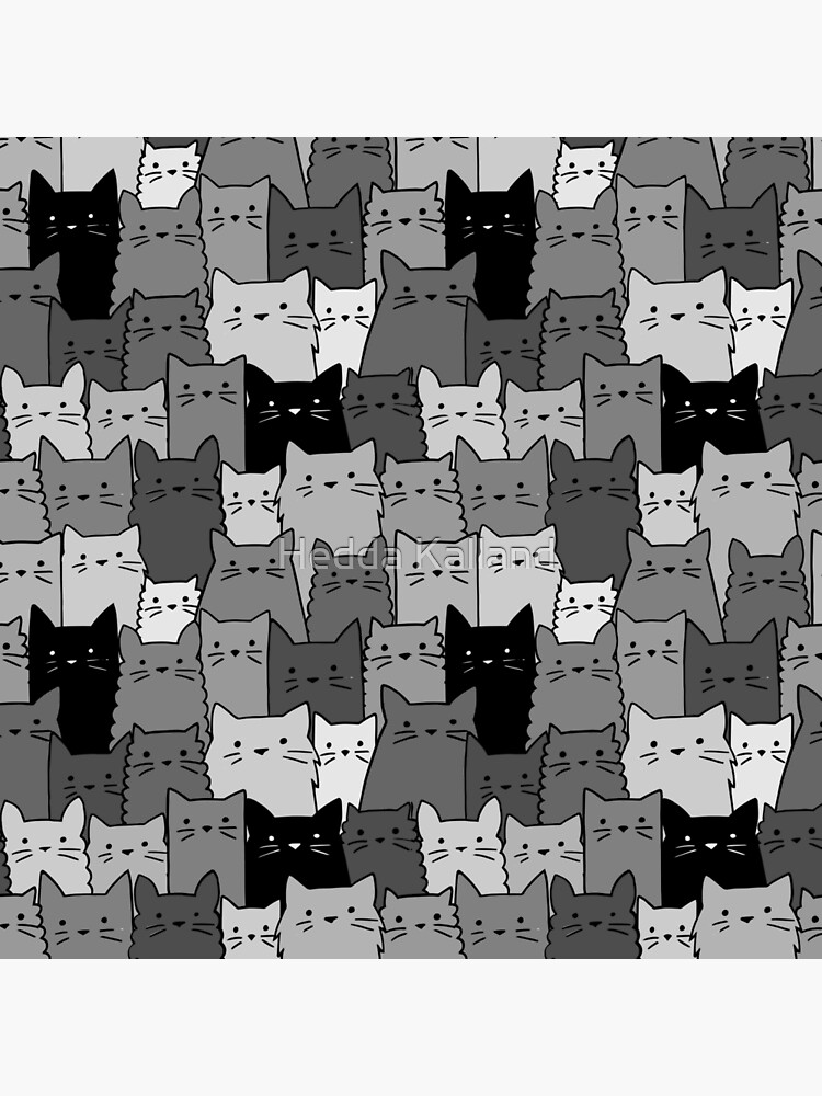 Silent Cats Monochromatic by hhkalland