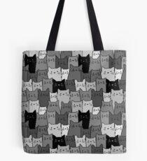Silent Cats Monochromatic Tote Bag