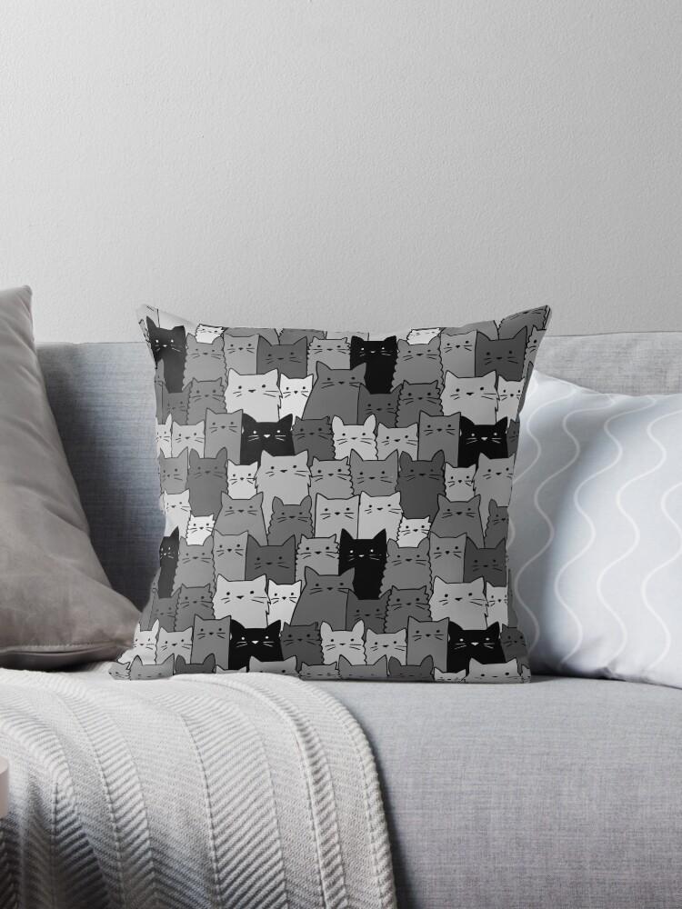 Stille Katzen einfarbig von Hedda Kalland