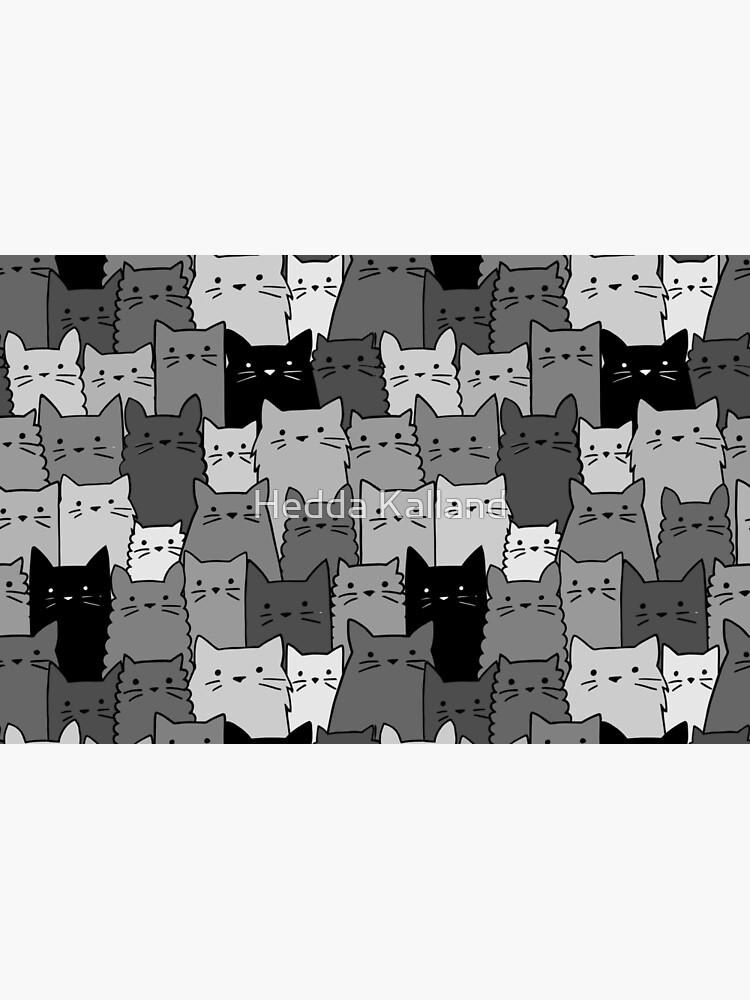 Stille Katzen einfarbig von hhkalland