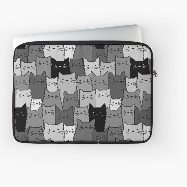 Silent Cats Monochromatic Laptop Sleeve