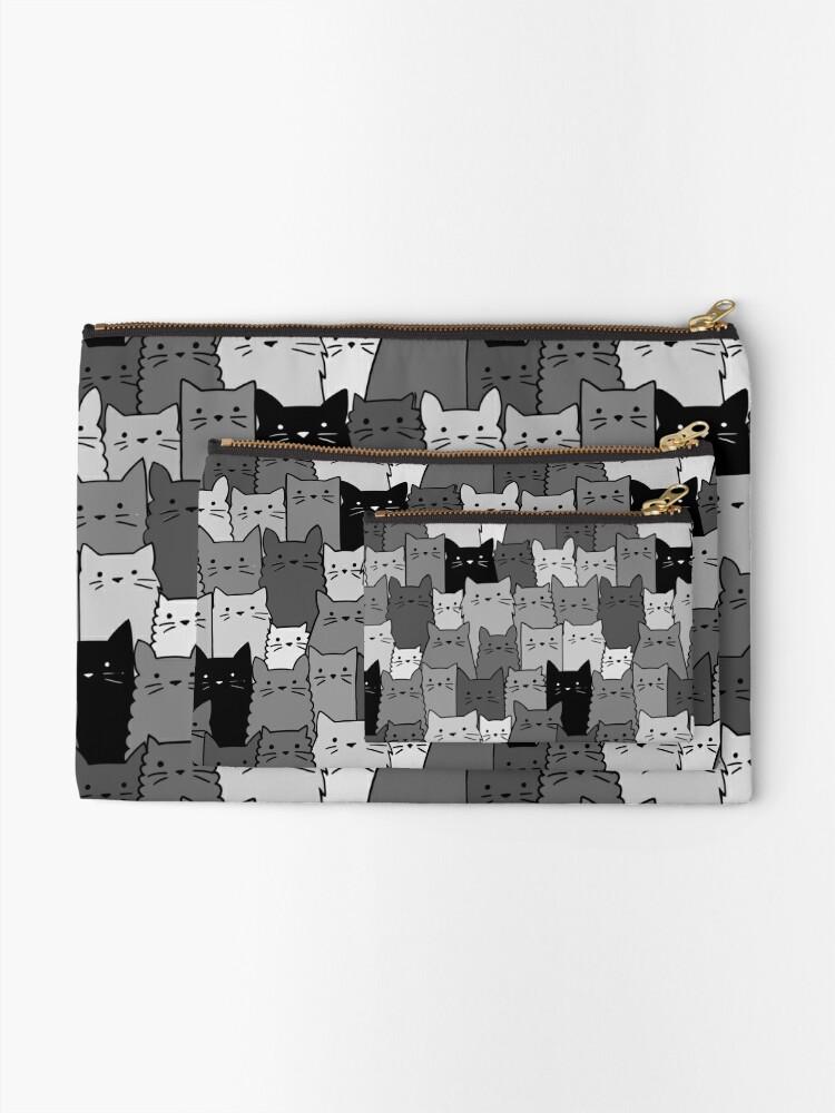 Alternative Ansicht von Stille Katzen einfarbig Täschchen