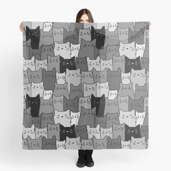 Silent Cats Monochromatic Scarf