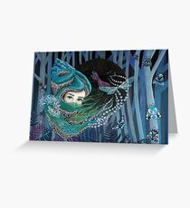 Forest eyes Greeting Card