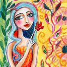 Girl in the Garden 2 by meloearth