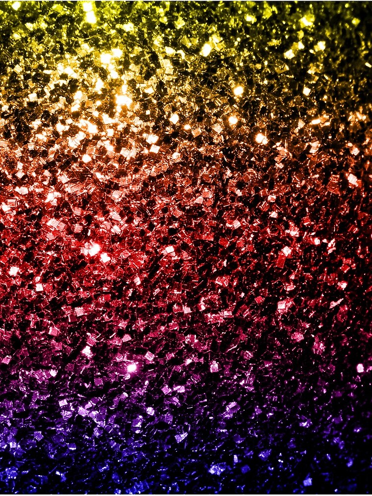Beautiful rainbow yellow red purple faux sparkles by PLdesign