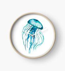 Watercolor Jellyfish Clock