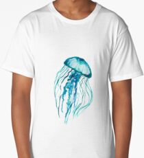 Watercolor Jellyfish Long T-Shirt