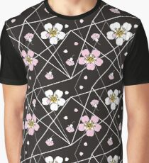 Cherry flowers in white and pink  Graphic T-Shirt