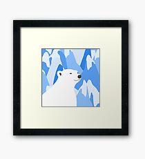 Polar Bear In The Cold Design Framed Print