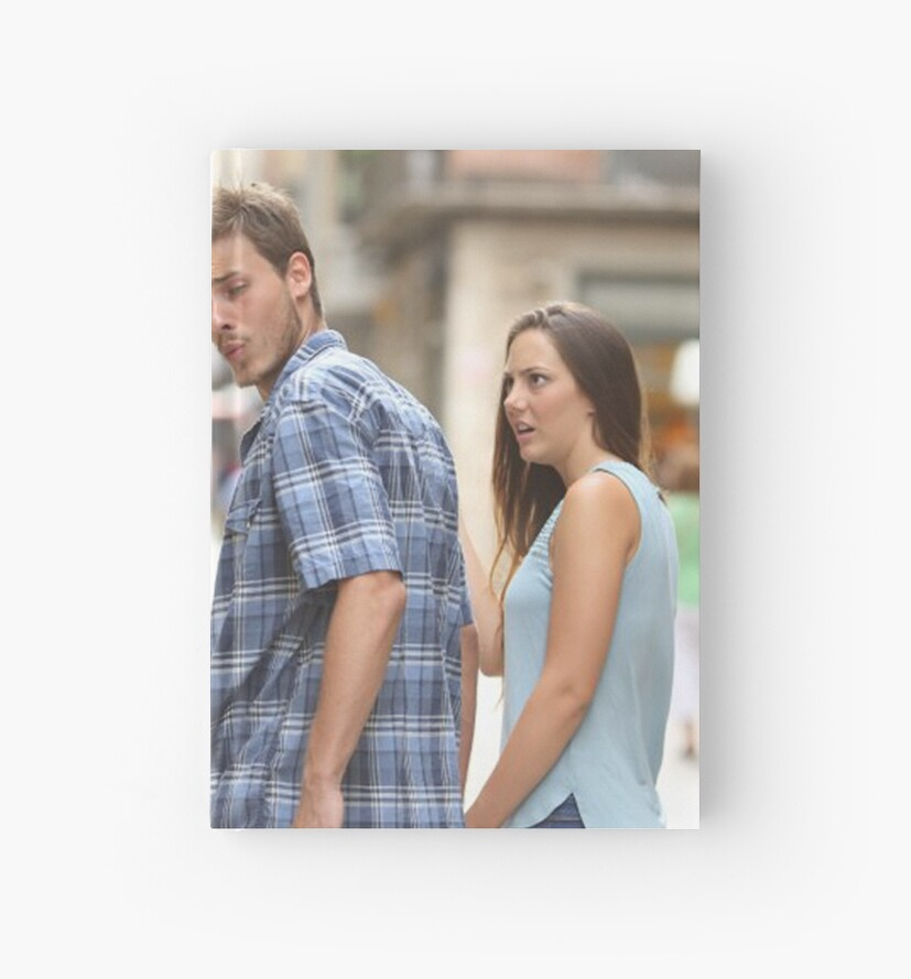 """""""Guy looking back meme"""" Hardcover Journal by Bebito ..."""