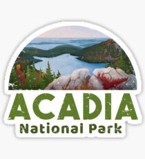 Acadia National Park T shirt Camp Hike Canoe Sticker