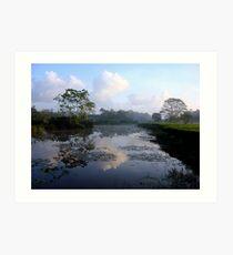 Early Morning Sri Lanka Reflections Art Print