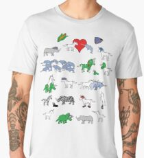 Unicorn and Friends Awesome Pattern Men's Premium T-Shirt