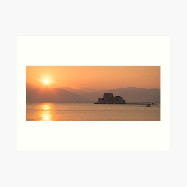 Sunset over Nafplio Art Print