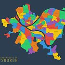 Map of Pittsburgh Neighborhoods by linesandcolors