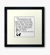 Michael Scofield Quote Prison Break Framed Print