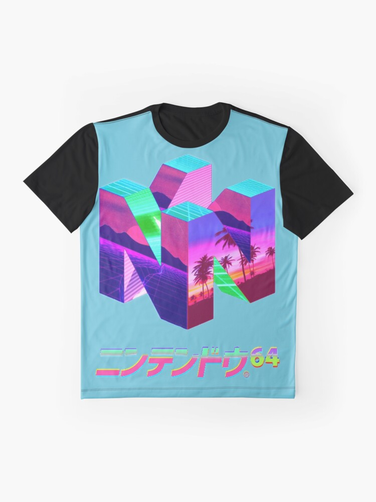 Alternate view of Nintendo 64 Vaporwave Graphic T-Shirt