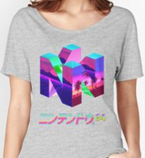 Nintendo 64 Vaporwave Women's Relaxed Fit T-Shirt