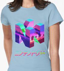 Nintendo 64 Vaporwave Fitted T-Shirt