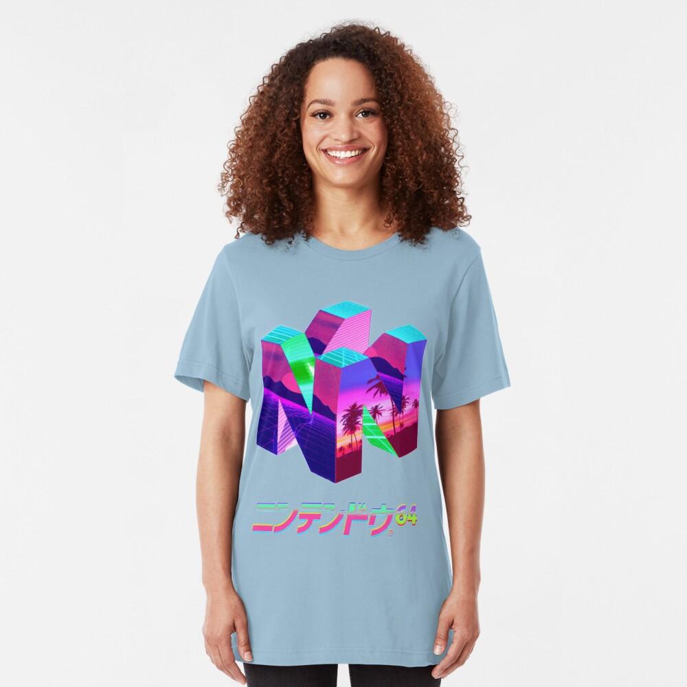 Nintendo 64 Vaporwave Slim Fit T-Shirt