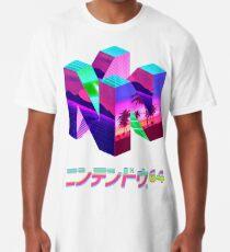 Camiseta larga Nintendo 64 Vaporwave