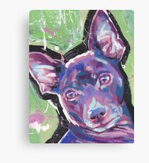 Rat Terrier Dog Bright colorful pop dog art Canvas Print