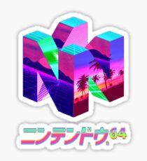 Nintendo 64 Vaporwave Sticker